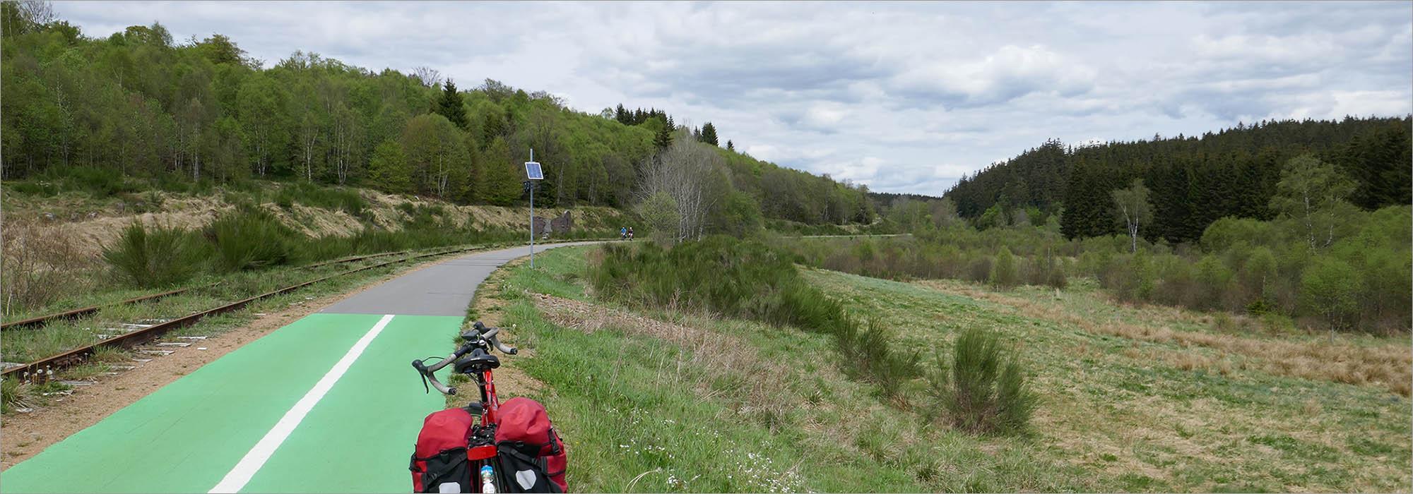 Vennbahn bij Sourbrodt, fietsen Hoge Venen