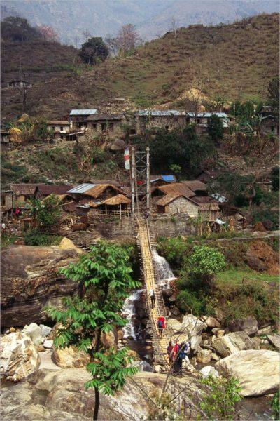 Hangbrug, Annapurna Circuit, Nepal