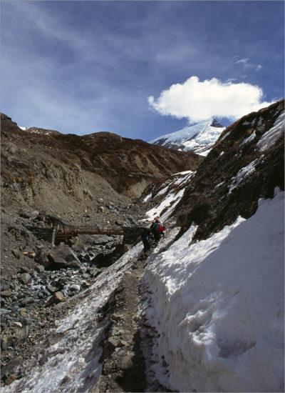 IJspaadjes en stenen, Annapurna Circuit, Nepal