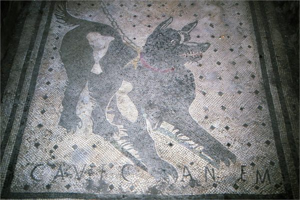 Pas op voor de hond, maar dan 2000 jaar oud.