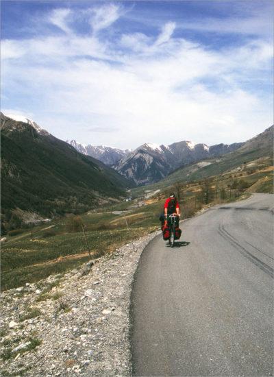 Klim naar de Col de Larche vanaf de Franse kant.