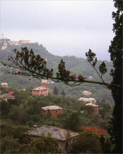 Uitzicht op de Ligurische Zee tijdens een klim.