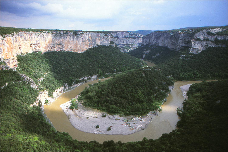 De gorges van de Ardèche.