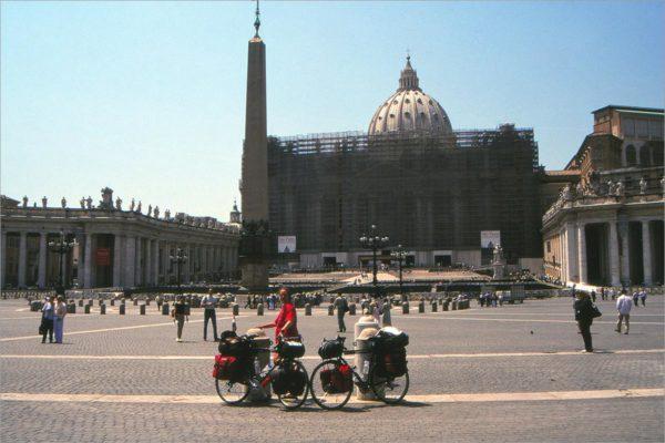 De Sint-Pieter, fietsen in Rome
