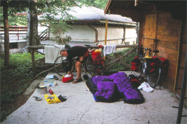 Slapen in de openlucht, Lago di Laceno.