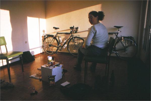 Bijna weg, de fietsen stonden al die tijd klaar in onze kamer.