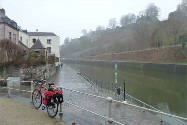 De citadel van Namur, fietsen in België