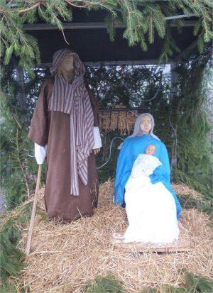 Kerststal in Hamoir