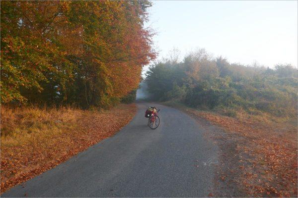 Het bos van Compiègne uit, fietsen naar Parijs
