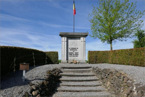 Monument caporal Geury, fietsen Hoge Venen