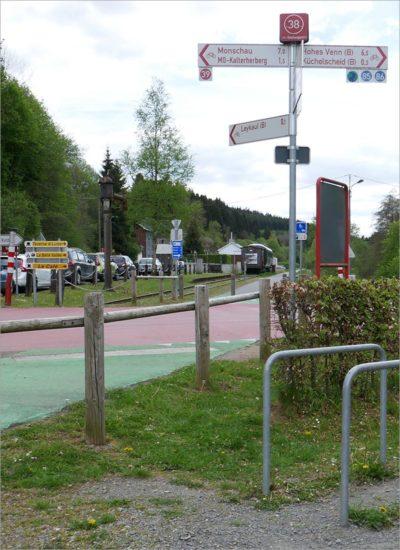 Knooppunt 38, tevens rustpunt, fietsen Vennbahn