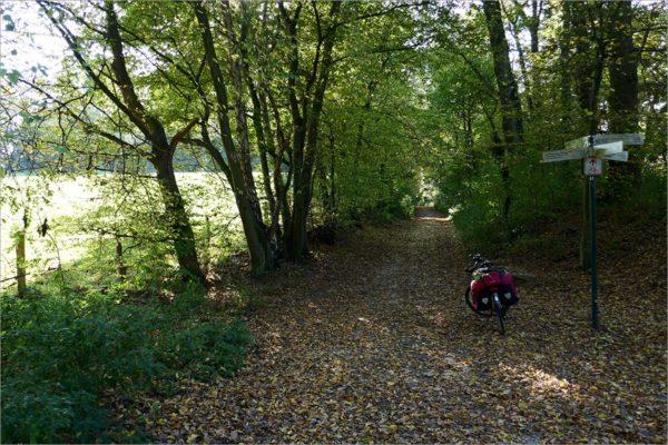 In de buurt van Herzogenrath, fietsen in de Eifel