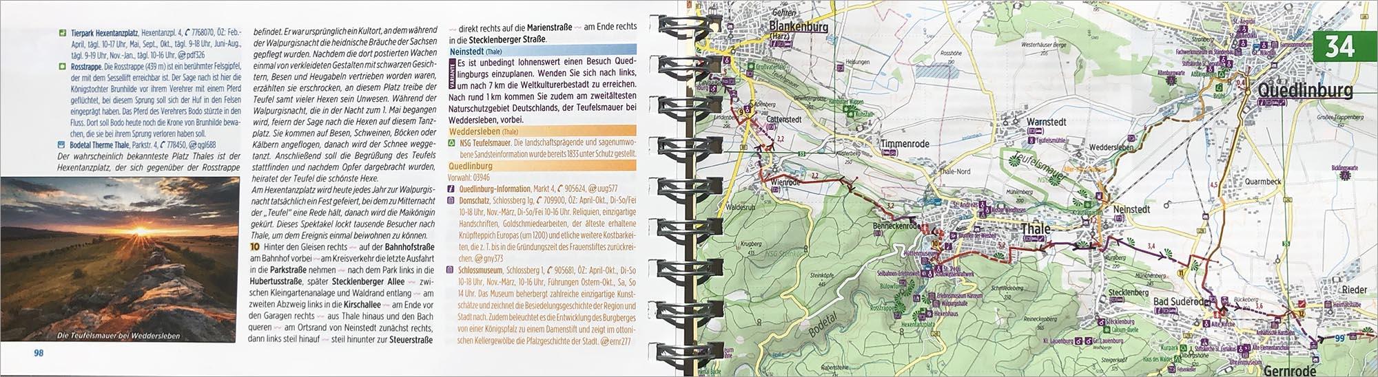 Voorbeeldpagina's routegids naar Berlijn.